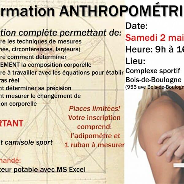 Formation anthropométrie