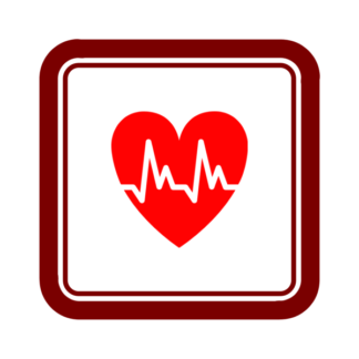 "Image du Badge ""Cardiology (568)"" fourni par Jack Biesek, Gladys Brenner, Margaret Faye, Healther Merrifield, Kate Keating, Wendy Olmstead, Todd Pierce, Jamie Cowgill & Jim Bolek, from The Noun Project sous The symbol is published under a Public Domain Mark"