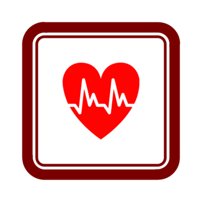 """Image du Badge """"Cardiology (568)"""" fourni par Jack Biesek, Gladys Brenner, Margaret Faye, Healther Merrifield, Kate Keating, Wendy Olmstead, Todd Pierce, Jamie Cowgill & Jim Bolek, from The Noun Project sous The symbol is published under a Public Domain Mark"""