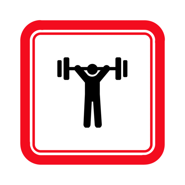 "Image du Badge ""Weight Lifting (883)"" fourni par Scott Lewis, from The Noun Project sous Creative Commons - Attribution (CC BY 3.0)"