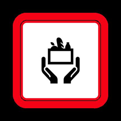 "Image du Badge ""Food Bank (744)"" fourni par & Edward Boatman, from The Noun Project sous The symbol is published under a Public Domain Mark"