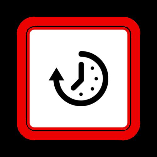 """Image du Badge """"Time (6732)"""" fourni par Richard de Vos, from The Noun Project sous Creative Commons - Attribution (CC BY 3.0)"""